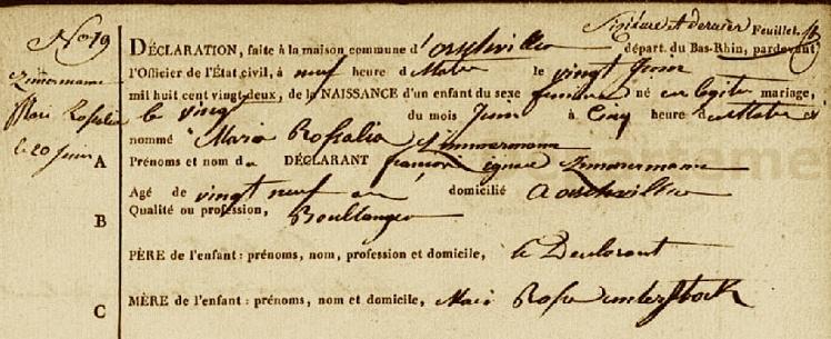 1822 AN M.R. ZIMMERMANN